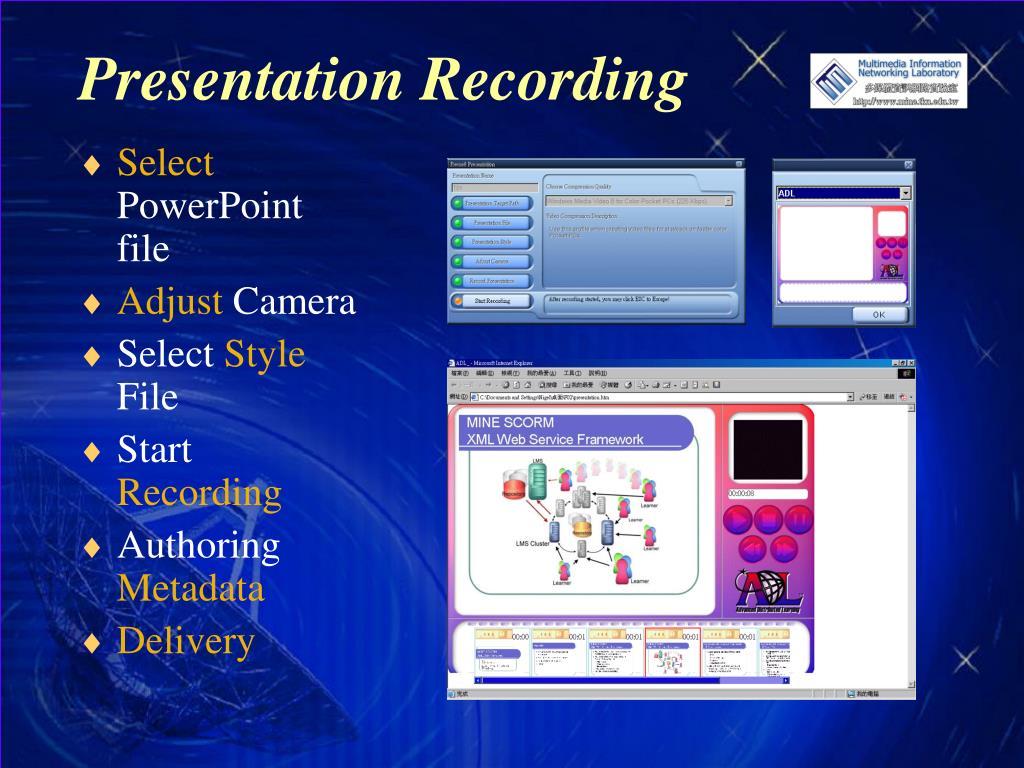 Presentation Recording