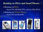 reading on pdas and smart phones