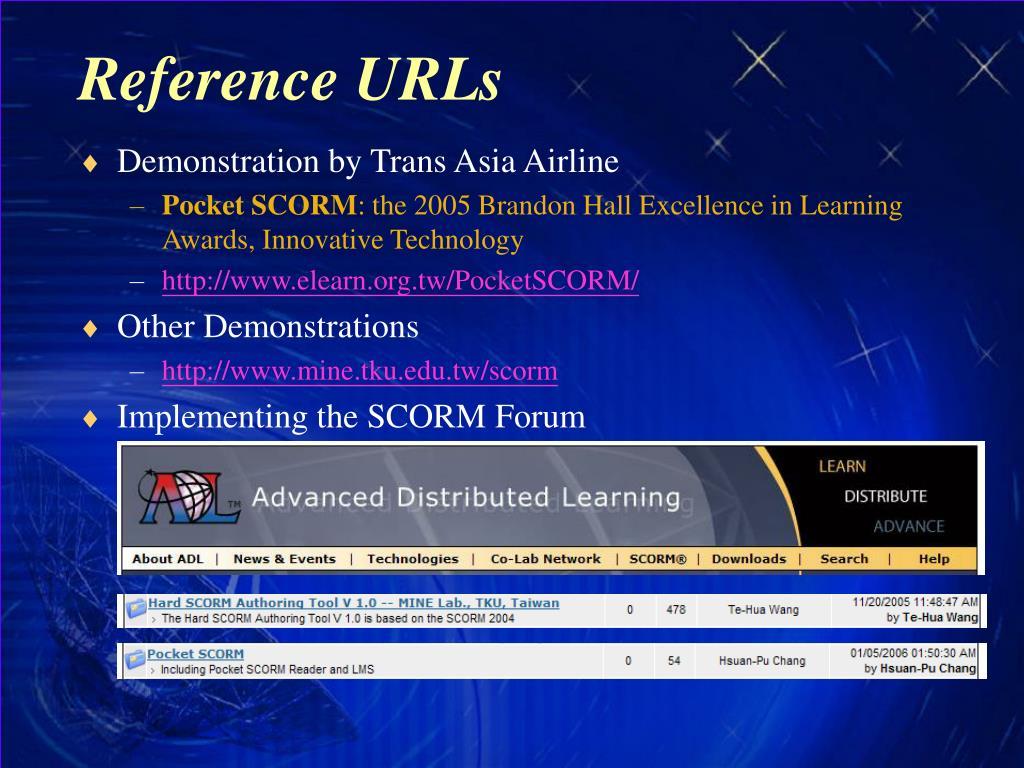 Reference URLs