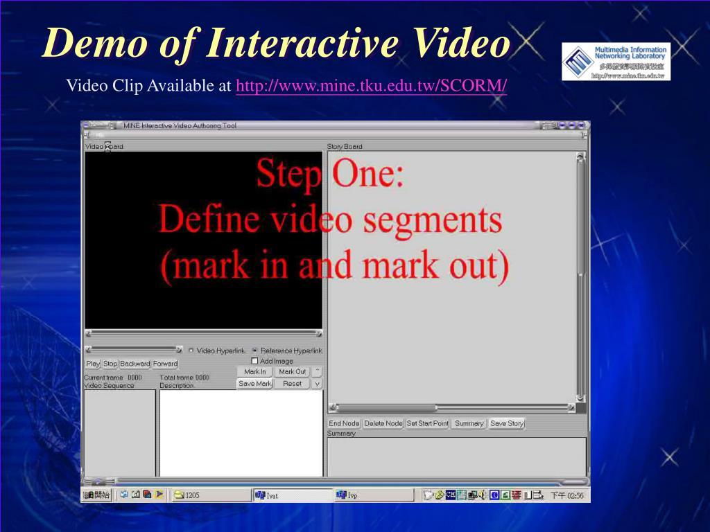 Demo of Interactive Video