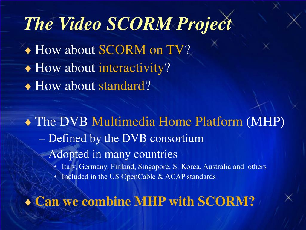 The Video SCORM Project