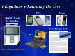 ubiquitous e learning devices