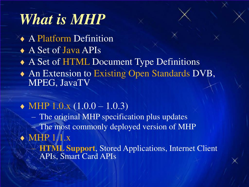 What is MHP