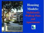 housing models multifamily walkup flats and apartments