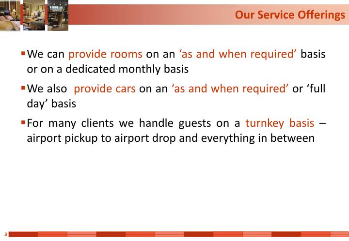Our service offerings