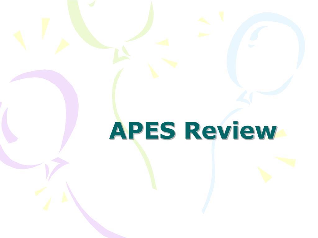 apes review l.