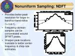 nonuniform sampling ndft