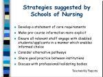 strategies suggested by schools of nursing