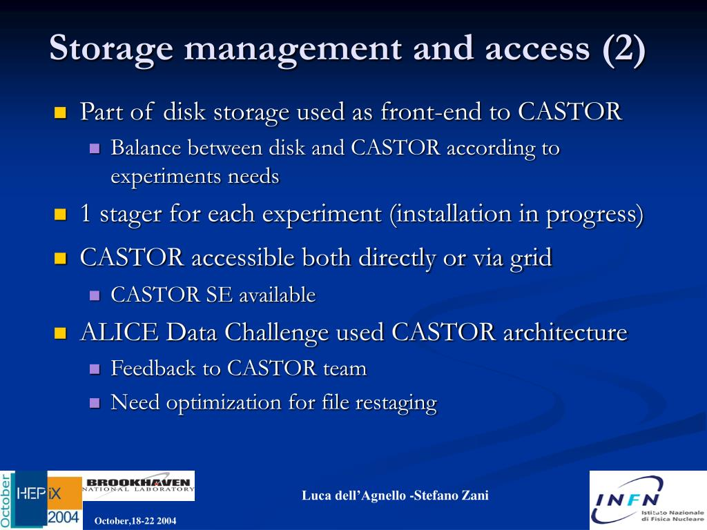 Storage management and access (2)
