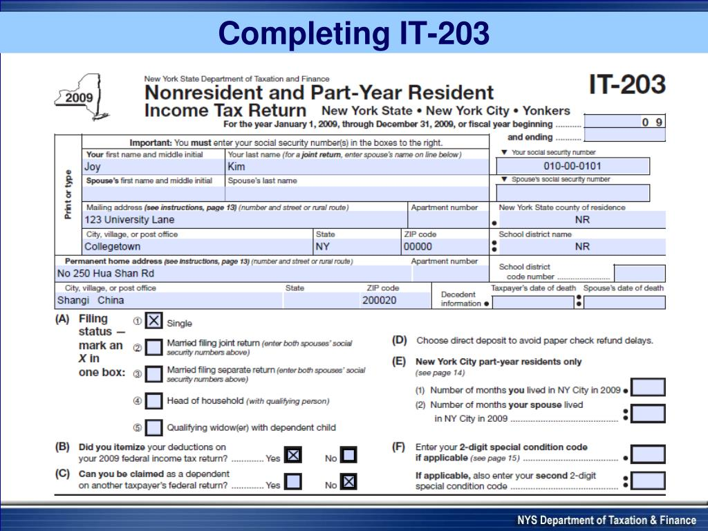Completing IT-203