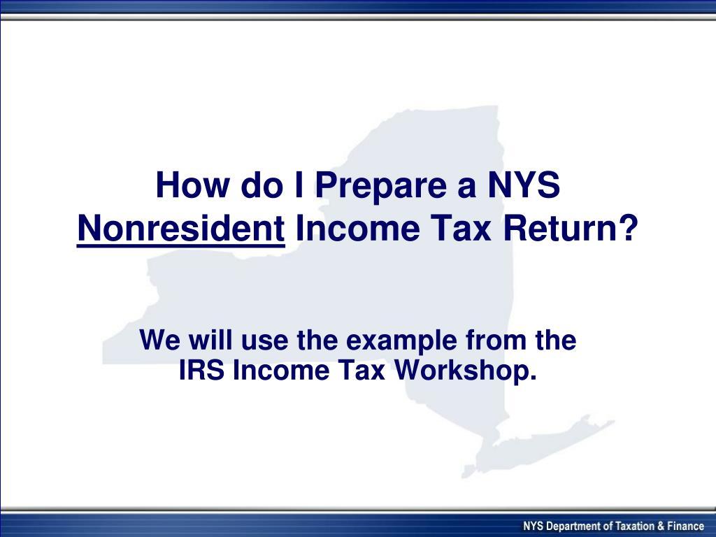 How do I Prepare a NYS