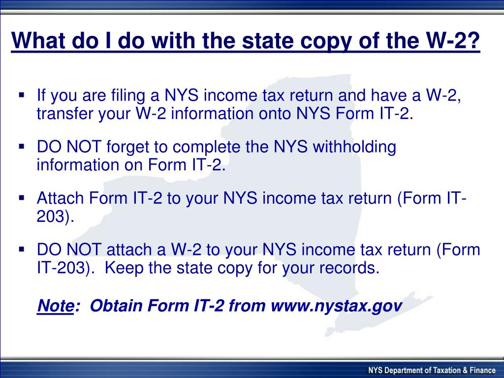 What do I do with the state copy of the W-2?