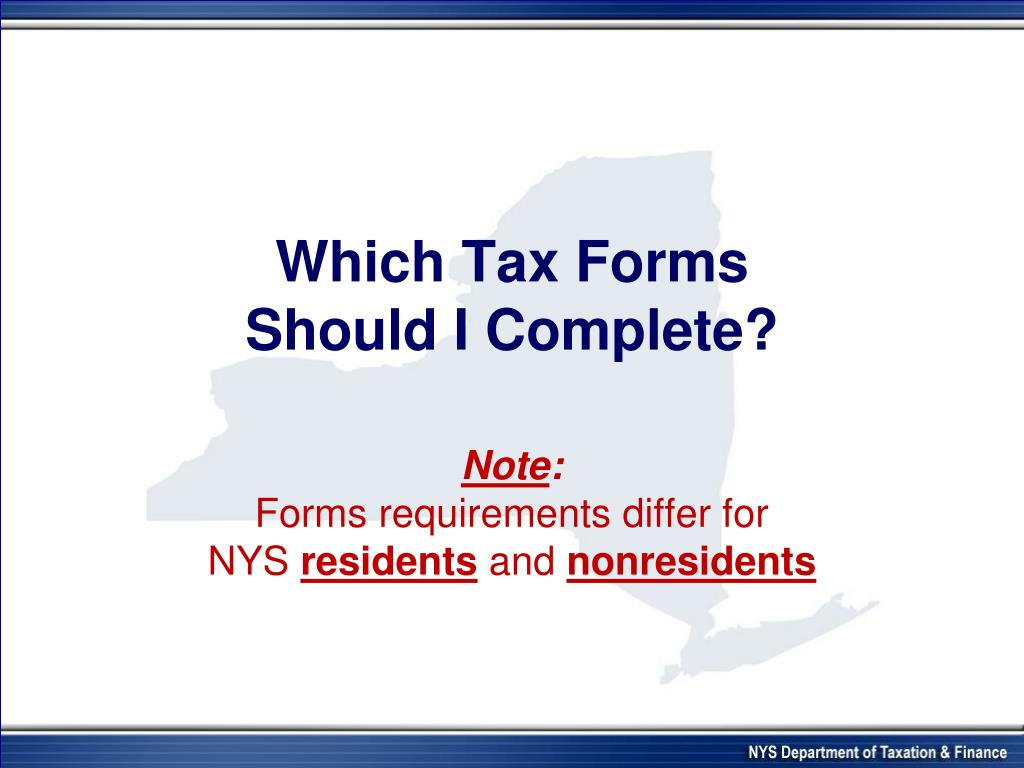 Which Tax Forms
