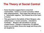 the theory of social control