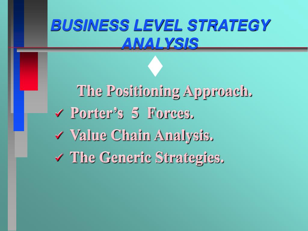 business level strategy analysis l.
