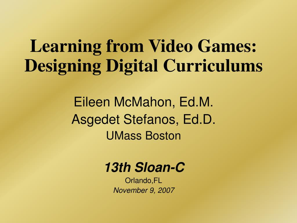 learning from video games designing digital curriculums l.