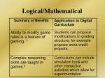 logical mathematical