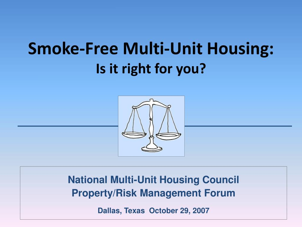 smoke free multi unit housing is it right for you l.