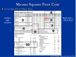 means square foot cost32