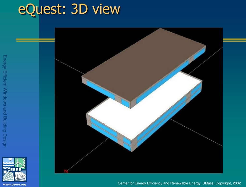 eQuest: 3D view