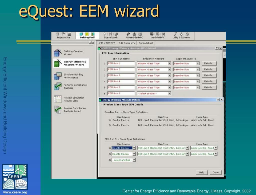 eQuest: EEM wizard