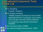 specialized component tools partial list