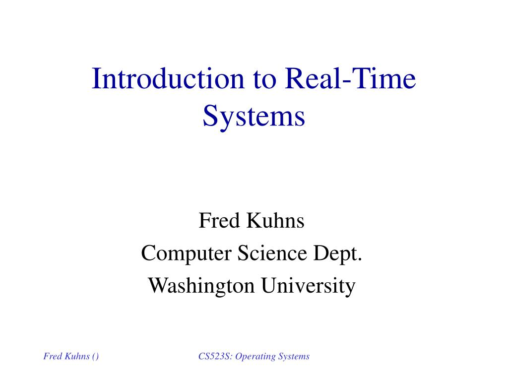 introduction to real time systems l.