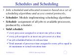 schedules and scheduling