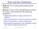tasks and jobs definitions