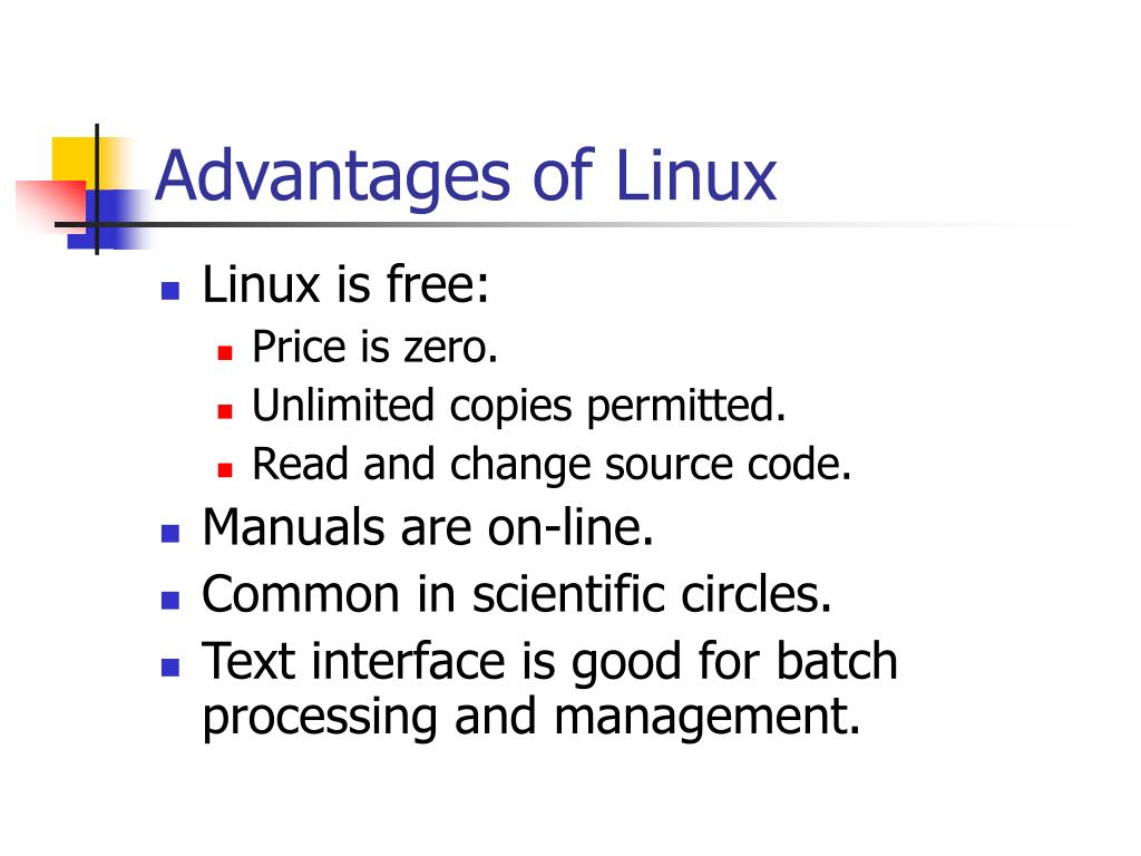 Advantages of Linux