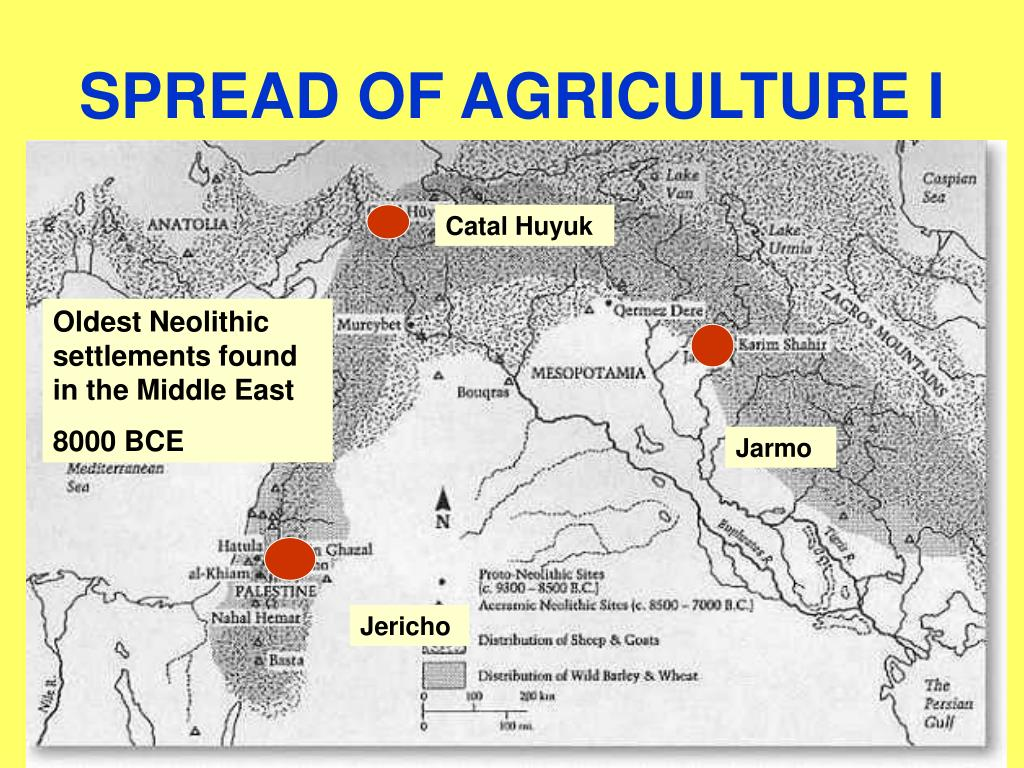 SPREAD OF AGRICULTURE I