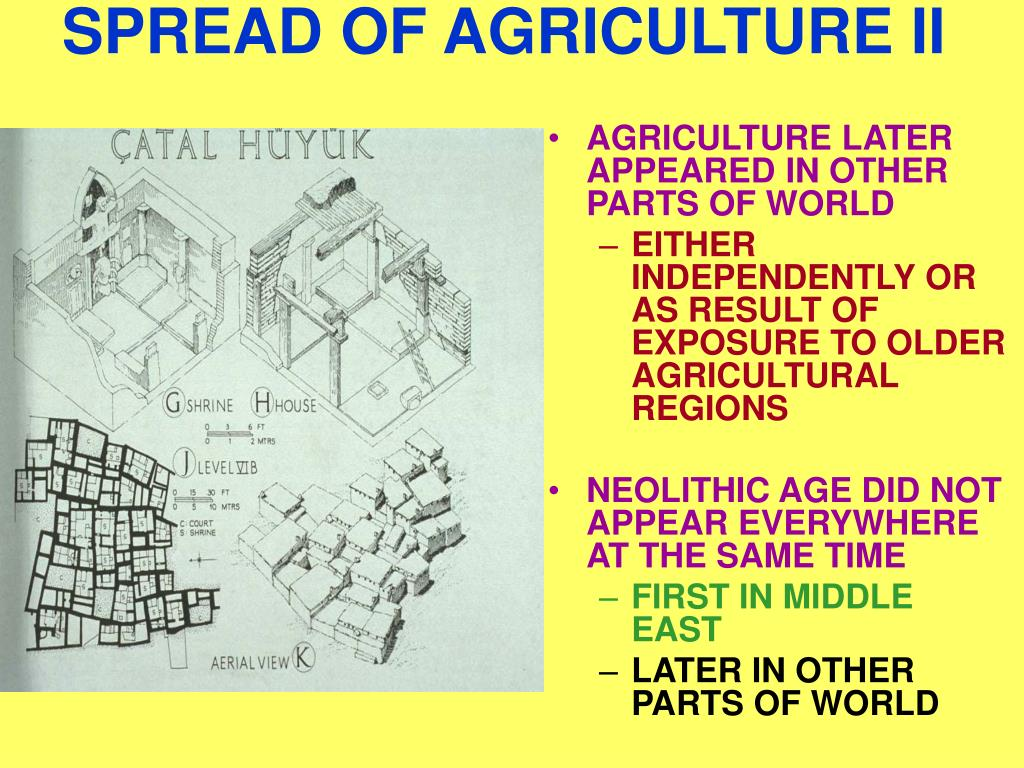 SPREAD OF AGRICULTURE II