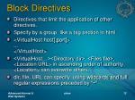 block directives