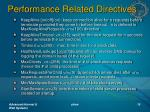 performance related directives