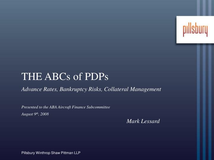 The abcs of pdps