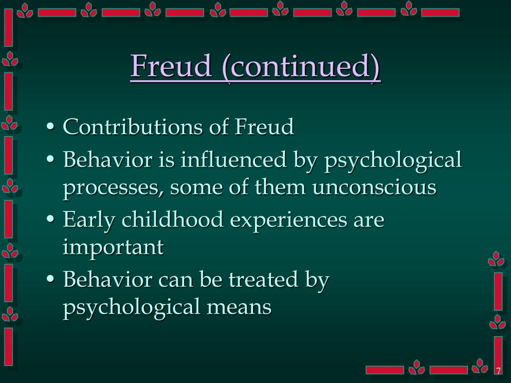 Freud (continued)