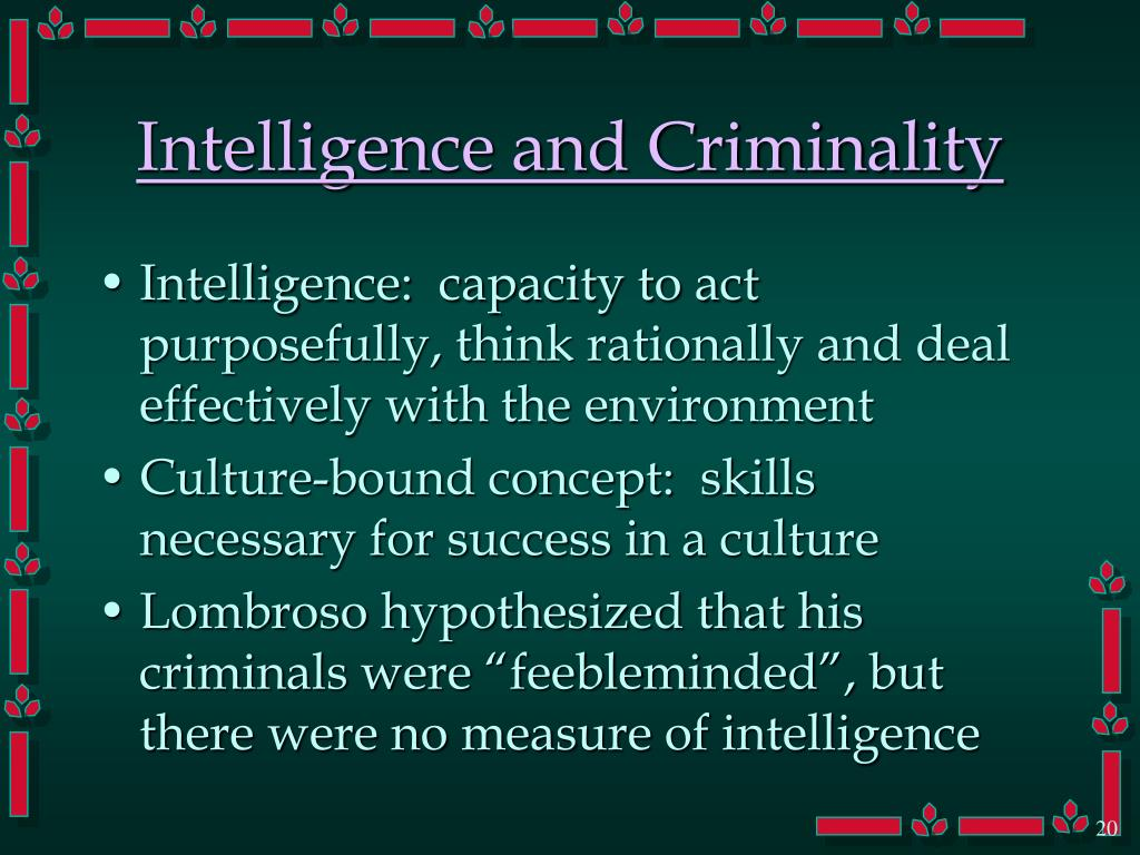 Intelligence and Criminality