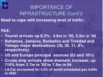 importance of infrastructure cont d