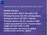importance of infrastructure cont d6