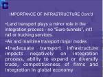 importance of infrastructure cont d8