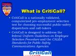 what is criticall