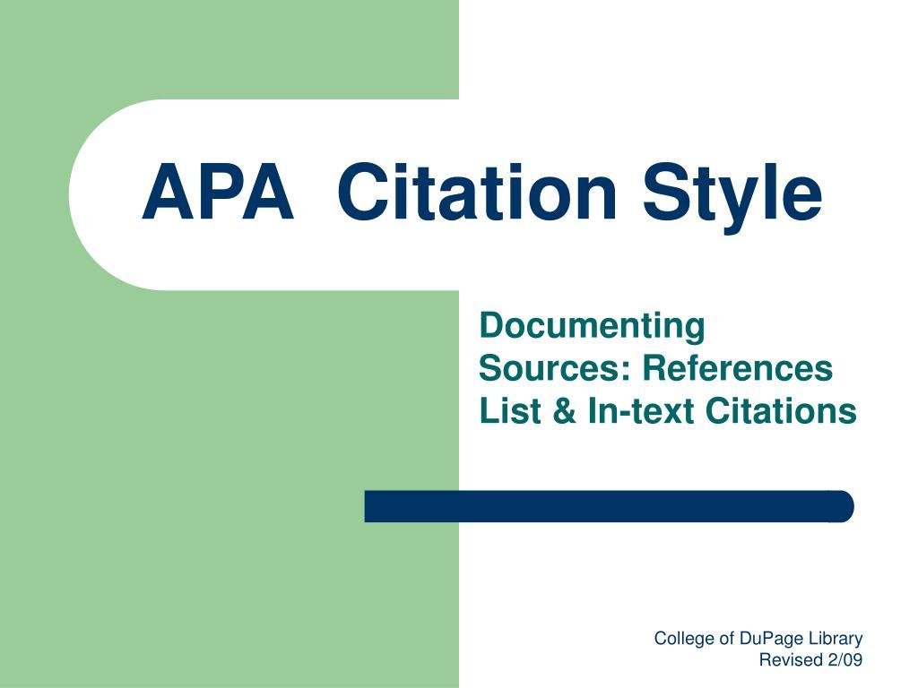 apa citation style l.