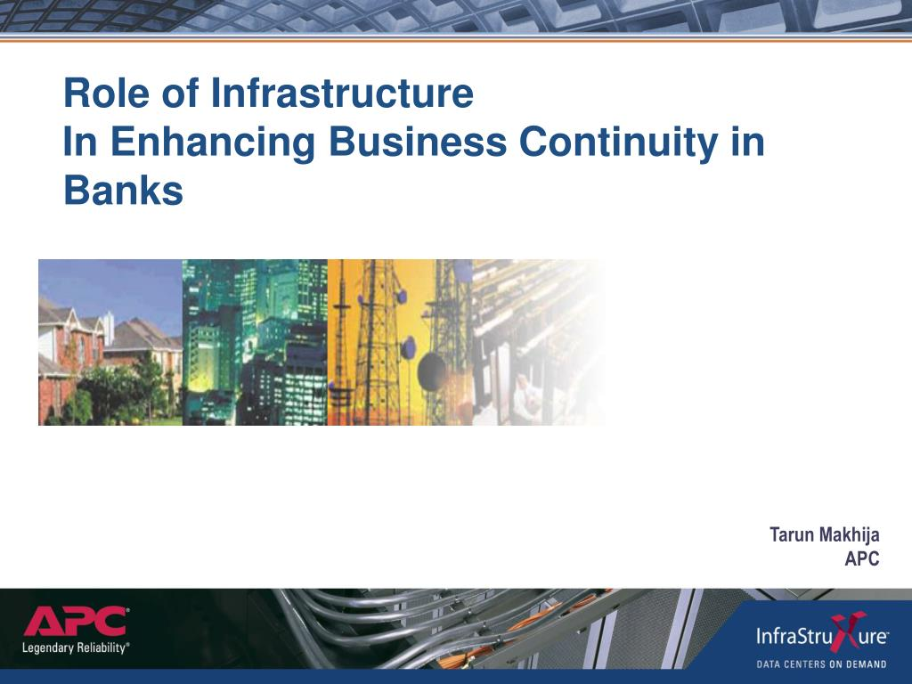 role of infrastructure in enhancing business continuity in banks l.