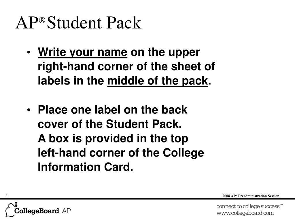 AP  Student Pack