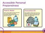 accessible personal preparedness47