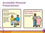accessible personal preparedness48