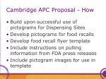 cambridge apc proposal how