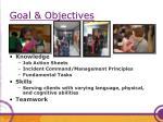 goal objectives