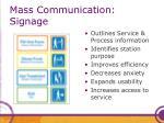 mass communication signage