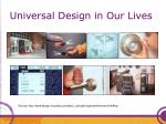 universal design in our lives
